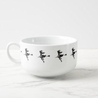Witch Riding Broom Halloween Thunder_Cove Soup Mug