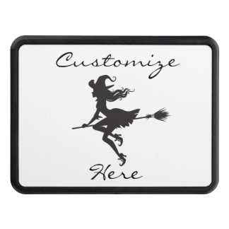 Witch Riding Broom Thunder_Cove  Halloween Trailer Hitch Cover