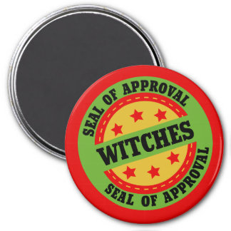 Witch Seal of Approval 3 Inch Round Magnet
