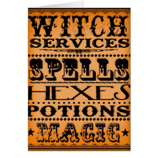 witch services card