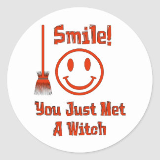 Witch Smile Classic Round Sticker