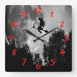 Witch Square Wall Clock