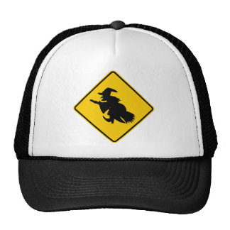Witch Traffic Highway Sign Hats
