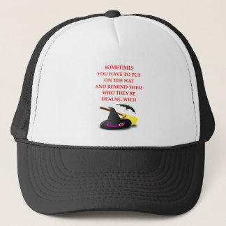 WITCH TRUCKER HAT