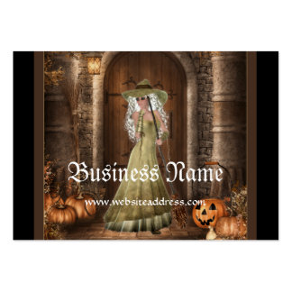 Witch Waiting by the Door  Fantasy Business Cards