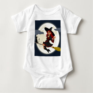 witch witchcraft broomstick broom baby bodysuit