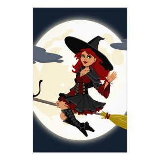 witch witchcraft broomstick broom stationery