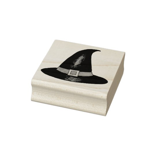 Witch Witches Hat Happy Halloween Rubber Stamp