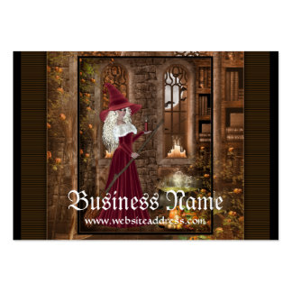 Witch with a Candle  Fantasy Business Cards