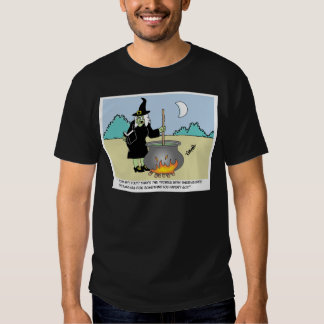 Witch With A Recipe Book T Shirts