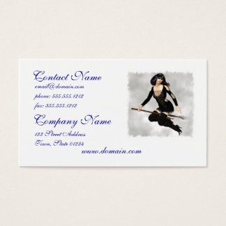 Witch with Broom Business Cards