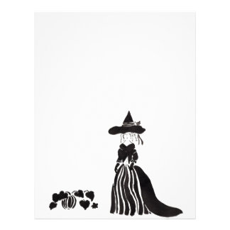 Witch With Pumpkins Custom Letterhead