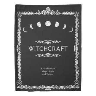 Witchcraft A Handbook of Magic Spells 2 Sided Duvet Cover