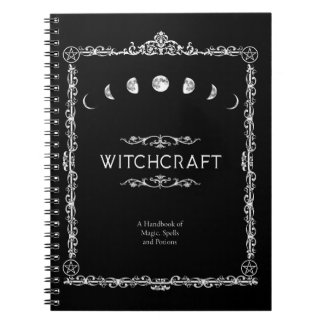 Witchcraft A Handbook of Magic Spells and Potions Notebook