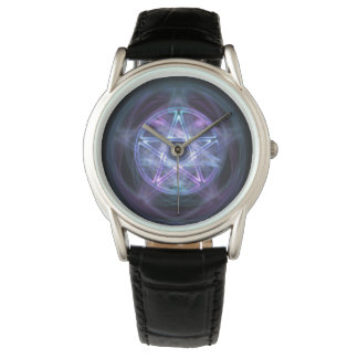 Witchcraft Blue Fire Pentagram Wristwatches