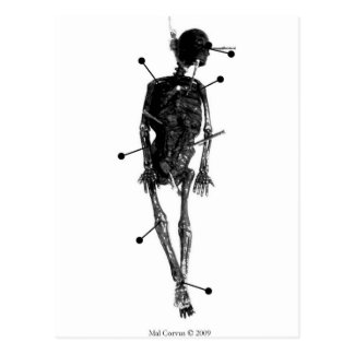 Witchcraft: Skeleton Witch Doll Postcard