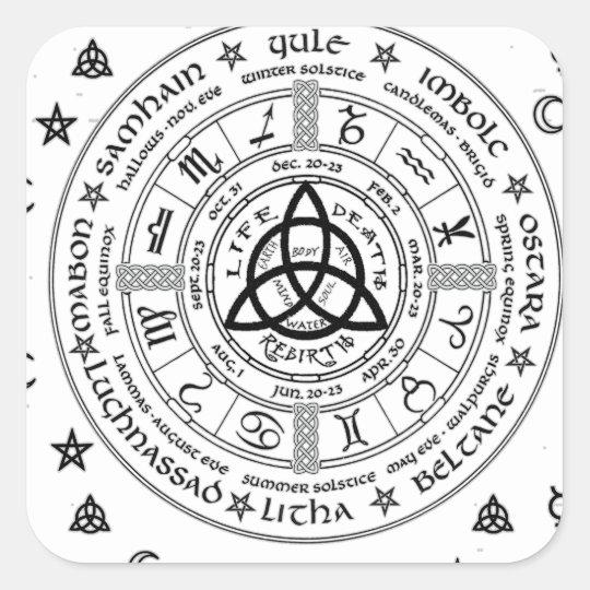 Witchcraft Symbols Square Sticker Zazzle