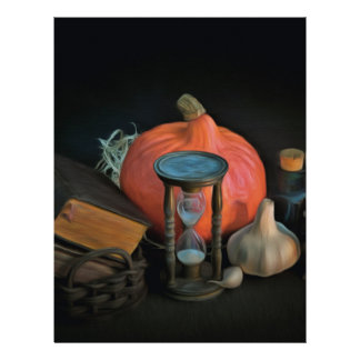 Witchery objects on a table in a dark room personalized letterhead