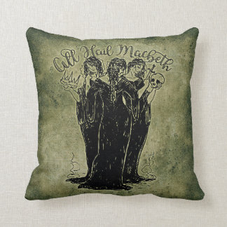 Witches All Hail Mabeth Throw Pillow
