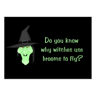 Witches and Brooms Large Business Card