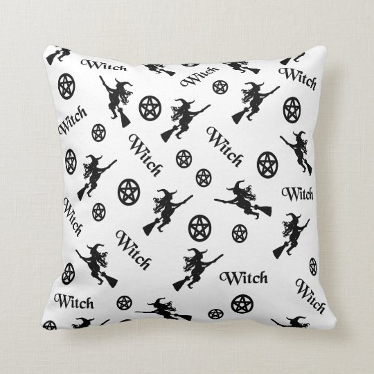 Witches and Pentacles Throw Pillow