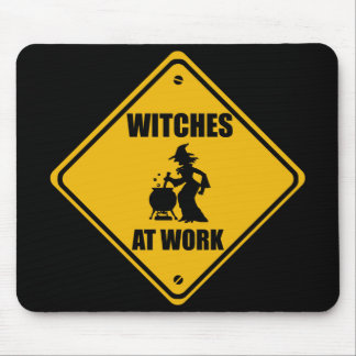 WITCHES AT WORK - Mousepad