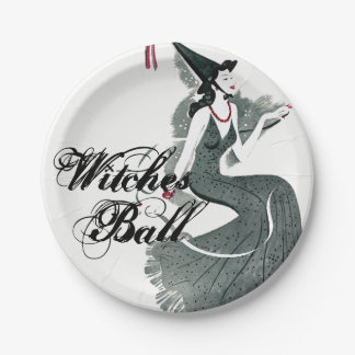 Witches Ball Paper Plates 7 Inch Paper Plate