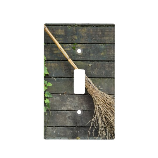 Witches broom light switch cover