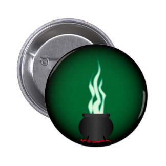 Witches Cauldron Poster Background 2 Inch Round Button