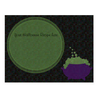 witches cauldron recipe card postcard