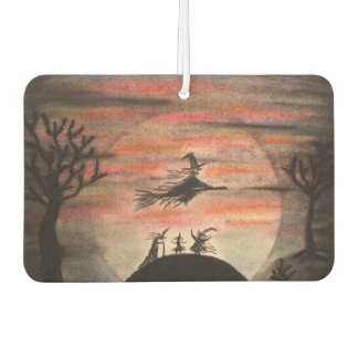 Witches Celebrate a Full Moon During Halloween Air Freshener
