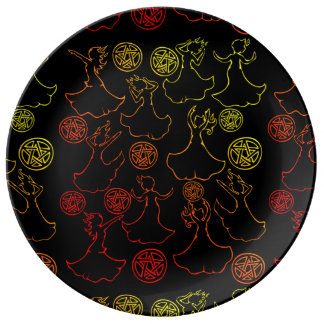 Witches Coven Porcelain Plates