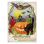 Witches Dancing Around Jack O' Lantern Greeting Card