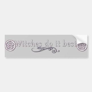 Witches do it best bumper sticker