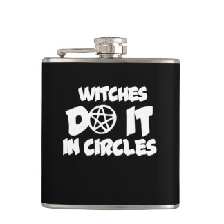 Witches do it in circles hip flask