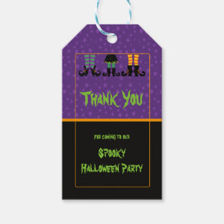 Witches Feet Halloween Party Gift Tags
