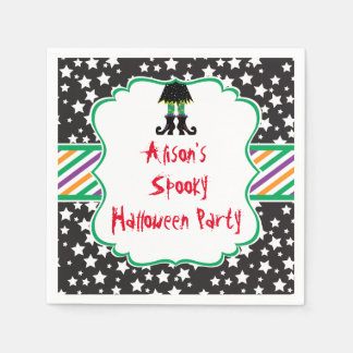 Witches Feet Halloween Party Paper Napkins