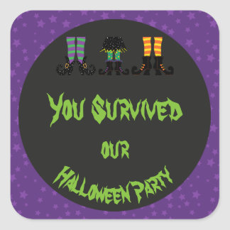 Witches Feet Halloween Party Square Sticker