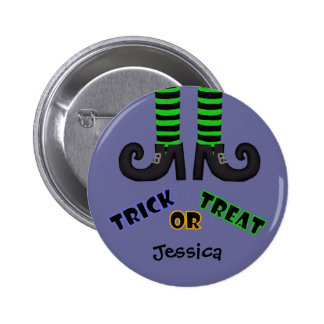 Witches Feet: Trick Or Treat Button