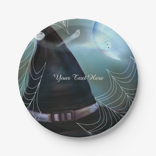 Witches Ghostly Night Halloween Party Plates 7 Inch Paper Plate