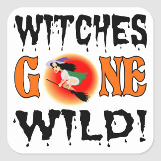 Witches Gone Wild Square Sticker