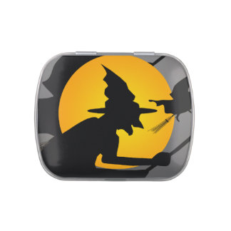 Witches Halloween Party Candy Tin