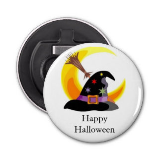 Witches Hat Button Bottle Opener
