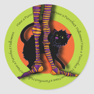 witches-legs-sticker classic round sticker