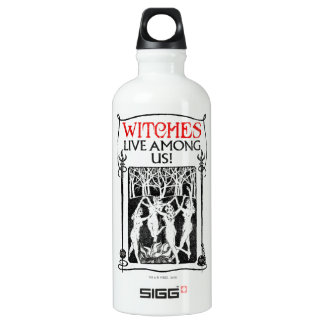 Witches Live Among Us Water Bottle