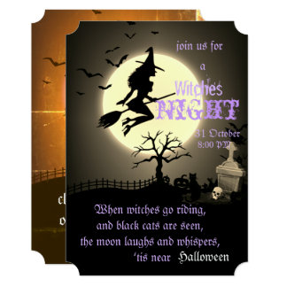 Witches Night, Halloween Card