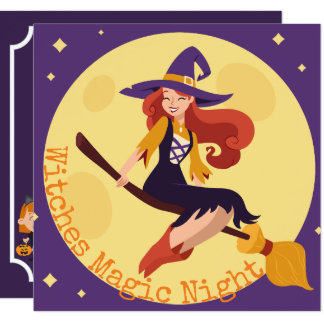 Witches Night Halloween Costume Party | Invitation