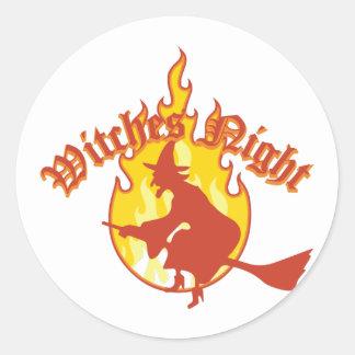 Witches Night Round Sticker