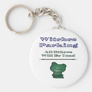 Witches Parking Basic Round Button Keychain
