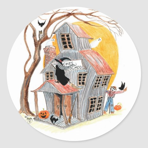 witches school stickers
